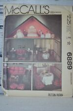 Vintage McCalls Pattern 6889 Doll House Furniture and Craft Package