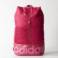Adidas  Essential Line Pink Backpack Sports Bag School Gym College New with Tags
