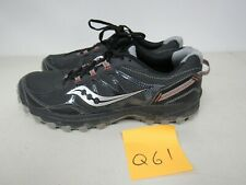 MENS SAUCONY GRID EXCURSION TR11 BLACK GRAY RUNNING SHOES SIZE 11.5M Q61