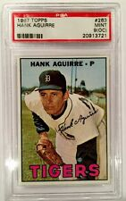 Vintage Collectible 1967 Topps Hank Aguirre #263 PSA 9 (OC) MINT Tigers