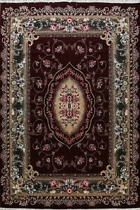 Floral Traditional Aubusson Turkish  Area Rug Living Room Large Carpet 10x13 ft