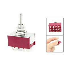 6A/125VAC 2A/250VAC 12 Pin 4PDT ON/ON 2 Position Mini Toggle Switch LW