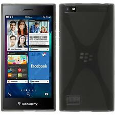 Silicone Case BlackBerry Leap X-Style gray + protective foils