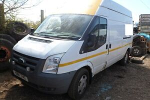 Ford Transit MK7 T350 L 2.4 TDCi H9FD RWD 6spd 2011 White BREAKING - FRONT END