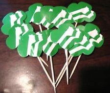 12 Girl Scout CUP CAKE TOPPERS Decoration Profiles Logo Party Celebration NEW