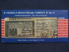 U.S. Colonial & Revolutionary Banknote set  Historical documents  NICE 7 notes