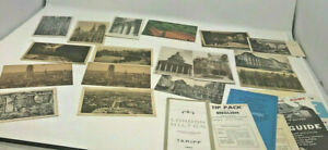 Lot of Foreign Postcards and Travel Brochures Paris Rome