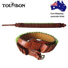 Tourbon Leather Cartridges Belt Ammo Holder Shell Carrier 12 Gauge Shotgun