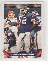 1993 Topps Football New York Giants Team Set
