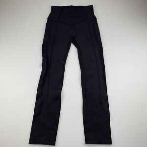 Womens size 2, Lululemon, black sports / activewear / yoga leggings, GUC