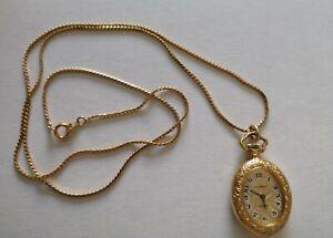 Taschenuhr Dugena Classic mit Kette Handaufzug  Vergoldet aus Nachlass