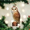 Old World Christmas BARN OWL (16118)N Glass Ornament w/OWC Box