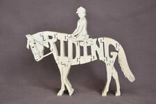 Rider on English Riding Dressage Horse Wooden Tack Room Puzzle Toy New
