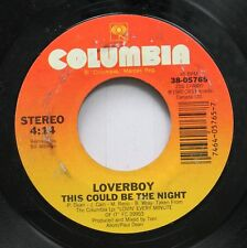Rock 45 Loverboy - This Could Be The Night / Its Your Life On Columbia