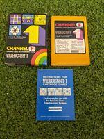 Channel F Videocart-1 Fairchild System Tic Tac Toe Shooting Doodle & Quadra-Dood