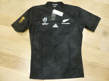 NWT Adidas 2019 Rugby World Cup New Zealand All Blacks Black Home Jersey (Large)