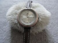 Caribbean Joe Quartz Ladies Watch with a Brown Leather Band