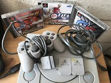 Playstation 1 with 3 games 2 memory cards and 1 console...