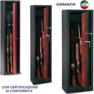 ARMADIETTI BOX CASSEFORTI PORTAFUCILI FUCILIERE BLINDATE 5-10 POSTI FUCILI ARMI