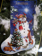 """Christmas Dimensions GOLD Counted Cross Stocking KIT,GLISTENING SNOWMAN,8640,16"""""""