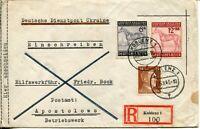GERMANY #B244-B245 Deutsche Reich Dienstpost Ukraine Registered Cover Postage