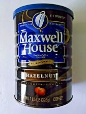 VINTAGE COLLECTOR MAXWELL HOUSE HAZELNUT FLAVOR COFFEE 11.5 OZ EMPTY TIN CAN (F)