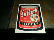 1976 1977 Topps WACKY PACKAGES Series 16 16th Sufferin Coffee