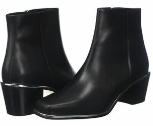Hugo Boss womens ACTON leather booties - made in Italy, branded dust bag