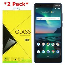 2-Pack Premium Tempered Glass Screen Protector For Nokia 3.1 Plus Cricket