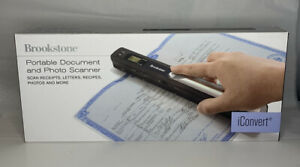 Brookstone iConvert Portable Document and Photo Scanner.