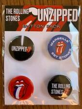 rolling stones 2021 unzipped marseille france badge pin set + 3 flyers