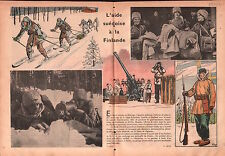 WWII Guerre Sweden Army Finland Armée Suède DCA Oslo Skis War 1940 ILLUSTRATION