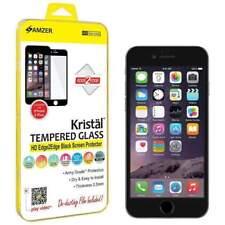 AMZER KRISTAL TEMPERED GLASS HD EDGE 2 EDGE BLACK SCREEN GUARD FOR IPHONE 6 PLUS