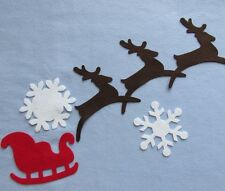 Reindeer Snow Flakes and Sleigh Wool Felt Die Cuts