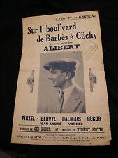Partition Sur l'boul'vard de Barbès à Clichy Alibert Music Sheet