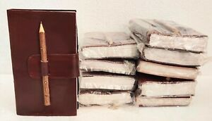 Leather Journal Blank Paper Notebook Notepad Diary Sketchbook Book Lot of 10
