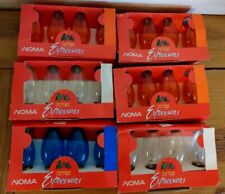 Vintage Noma Expressions Outdoor Christmas Light Bulbs C9 Lot of 6 packs