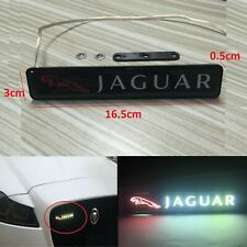 1Pcs JDM JAGUAR LED Light Car Front Grille Badge Illuminated Decal Sticker