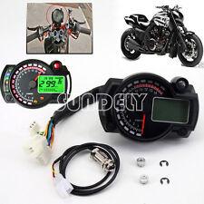 Backlight LCD Digital Motorcycle Speedometer Odometer Motor Bike Tachometer FAST
