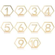 Acrylic Wedding Seat Card Hexagon Table Number Signs for Birthday Party Decor