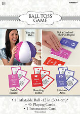 HEN Night Party Inflatable Ball Toss Game Girls night out Truth or dare cards