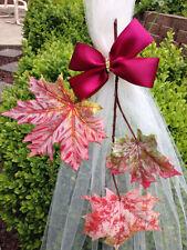 Set Of 6 Fall Pew Bows, Autumn Chair Bows Arch Aisle, Table Fall Wedding decor