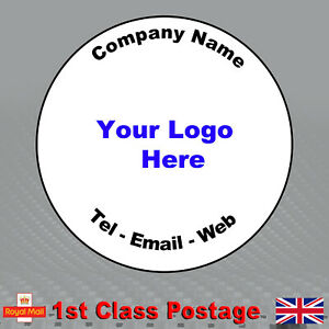 100 Round Personalised Business Stickers 45mm Custom Design Labels Any Picture