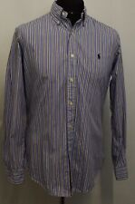 SW496 POLO BY RALPH LAUREN  MEN'S CUSTOM FIT STRIPED SHIRTS SIZE M