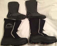 SOREL ALPHA PAC Winter Snow BOOTS 7 M FIT 8.5 RTL $180 With Thermal Boot Insert