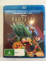 Disney Fantasia 2000 2 Disc Special Blu-ray and DVD Like New Free Shipping