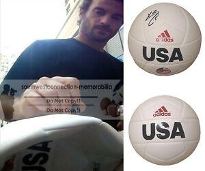 Kyle Beckerman Signed USA Logo Soccer Ball USMNT Real Salt Lake Proof Autograph