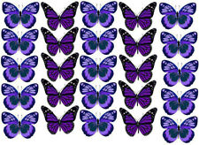 30 PRE-CUT Edible Butterflies Wafer Cupcake Cake Decoration Image Toppers Party