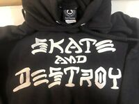 "Thrasher ""Skate and Destroy"" logo Black  Hoodie Size XLarge"