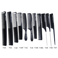 11 styles Comb Salon Professional Hairdressing Carbon Antistatic Cutting Comb wr